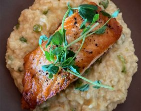 Salmon on Risotto